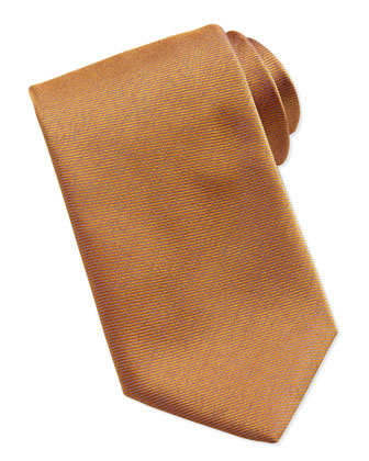 Woven Bicolor Silk Tie, Orange