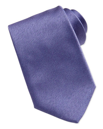 Woven Bicolor Silk Tie, Purple