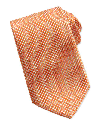 Woven Stitch-Pattern Silk Tie, Purple