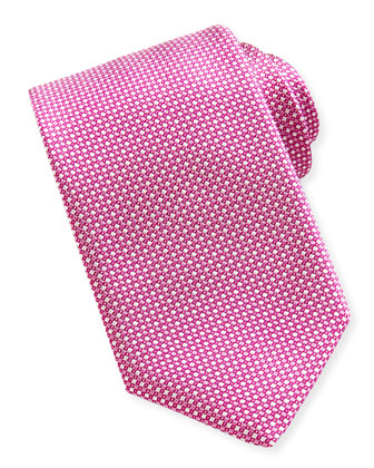 Patterned Silk Tie, Pink