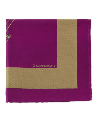 Sailboat Pocket Square, Fuchsia