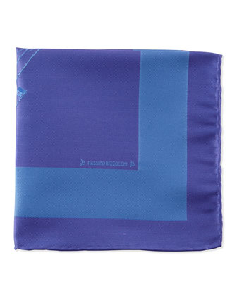 Sailboat Pocket Square, Purple