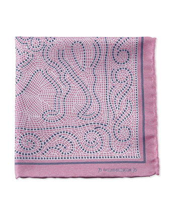 Mosaic Pocket Square, Pink