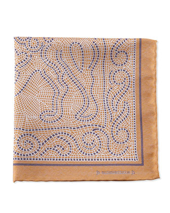Mosaic Pocket Square, Gold