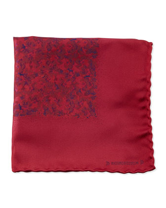 Watercolor Pocket Square, Red