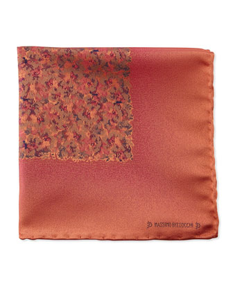 Watercolor Pocket Square, Orange