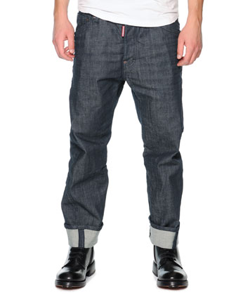Workwear Denim Jeans, Blue