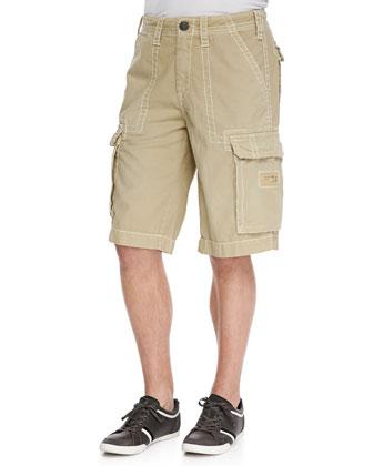 Overdye Cargo Shorts, Straw