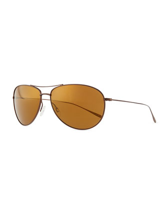 Tavener 61 Mirrored Sunglasses, Light Brown