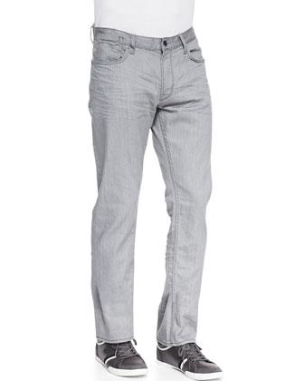 Dip-Dyed Zip Hoodie, Short-Sleeve Split-Neck Henley & Bowery Denim Jeans