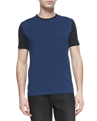 Colorblock Jersey Tee, Blue