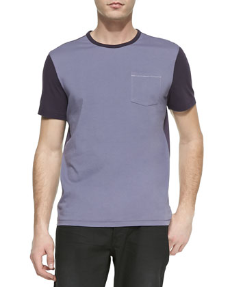Colorblock Jersey Tee, Purple