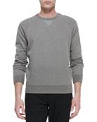 Long-Sleeve Crewneck Sweatshirt, Natural