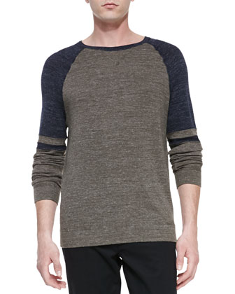 Crewneck Colorblock Raglan Sweater