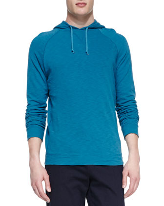 Jersey-Flame Pullover Hoodie, Teal