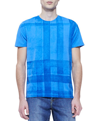 Jersey Check-Graphic Short-Sleeve Tee