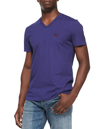 Equestrian Knight V-Neck Tee, Purple