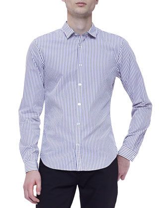 Poplin Striped Long-Sleeve Shirt
