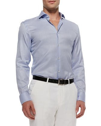 Jason Textured Sport Shirt, Blue