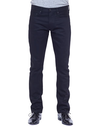 Slim-Leg Denim Jeans, Black