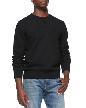 Jersey Crewneck Sweatshirt, Black