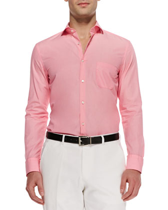 Jaser End-on-End Sport Shirt, Pink