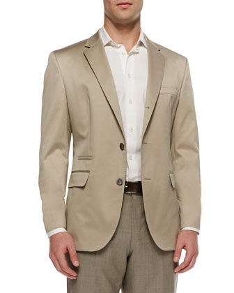 Three-Button Sport Coat, Khaki