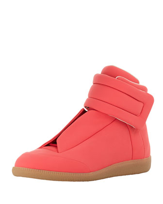 Future Leather High-Top Sneaker, Pink