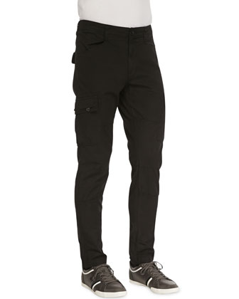 Trooper Cargo Twill Pants, Black