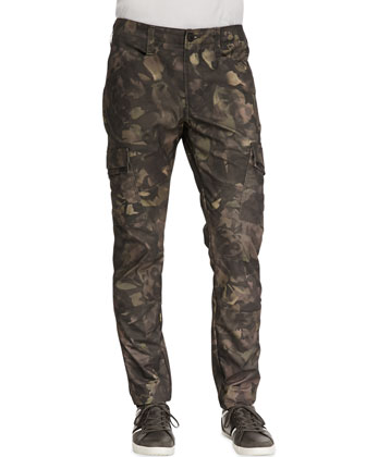 Trooper Camo Cargo Twill Pants, Tumbled Newberry
