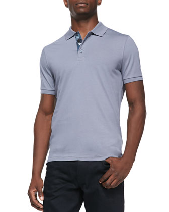 Soft Jersey Polo, Light Gray