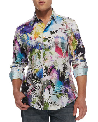 Mack Daddy Floral-Print Sport Shirt