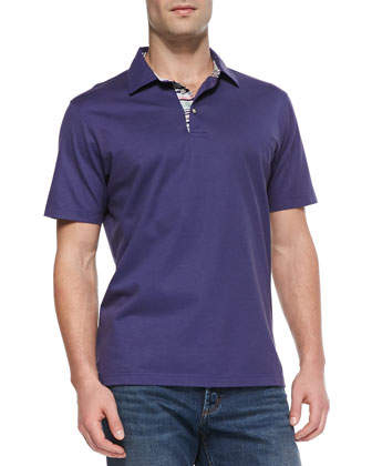 Tino Pique Polo Shirt, Purple