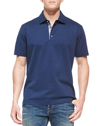 Tino Pique Polo Shirt, True Navy
