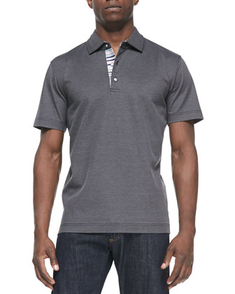 Tino Pique Polo Shirt, Black