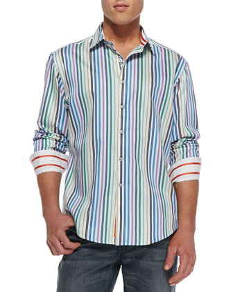 Mitro Multi-Striped Sport Shirt