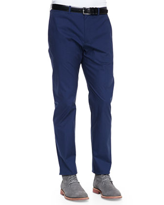 Poplin Suit Pants, Eclipse Blue