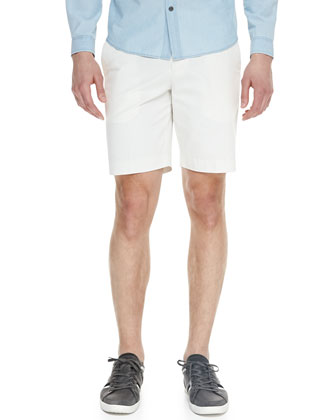 Bone File Twill Shorts, Off White