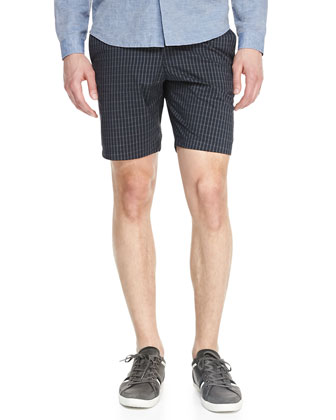 Linen-Cotton Long-Sleeve Shirt & Printed-Twill Shorts