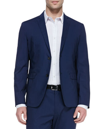 Deconstructed Two-Button Jacket, Eclipse