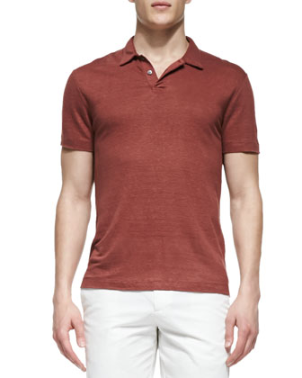 Willen Short-Sleeve Polo Shirt, After Light Red