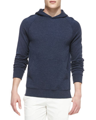 Navy Jersey Hooded Sweatshirt