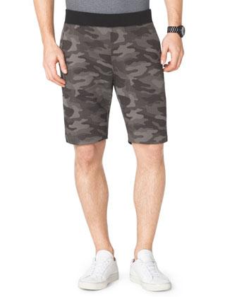 Camo-Print Fleece Shorts