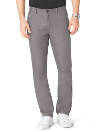 Modern-Fit Linen Jeans