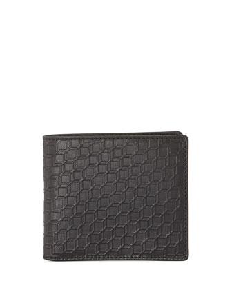 Napa Cube-Print Wallet, Black
