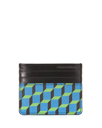 Napa Cube Clip Card Case, Blue/Black