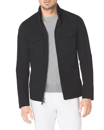 Tech Fabric Zip Jacket