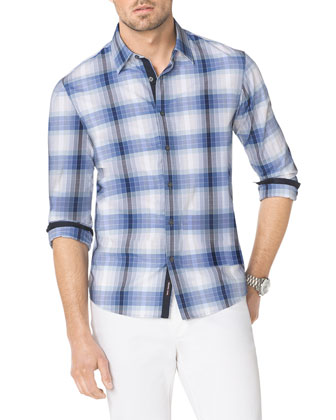 Stefan Contrast-Trim Check Shirt