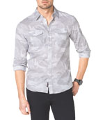 Camo-Print Two-Pocket Shirt