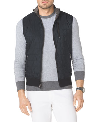 Tech Fabric/Knit Reversible Vest